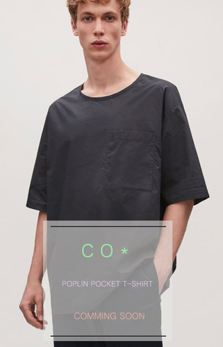 17ss CO* POPLIN POCKET T-SHIRT  선예약시 5% 할인쿠폰 증정!  COMMING SOON!