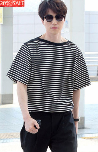 [20% SALE]   STRIPE OVER T-SHIRTS  당일발송! 49,000원->39,200원