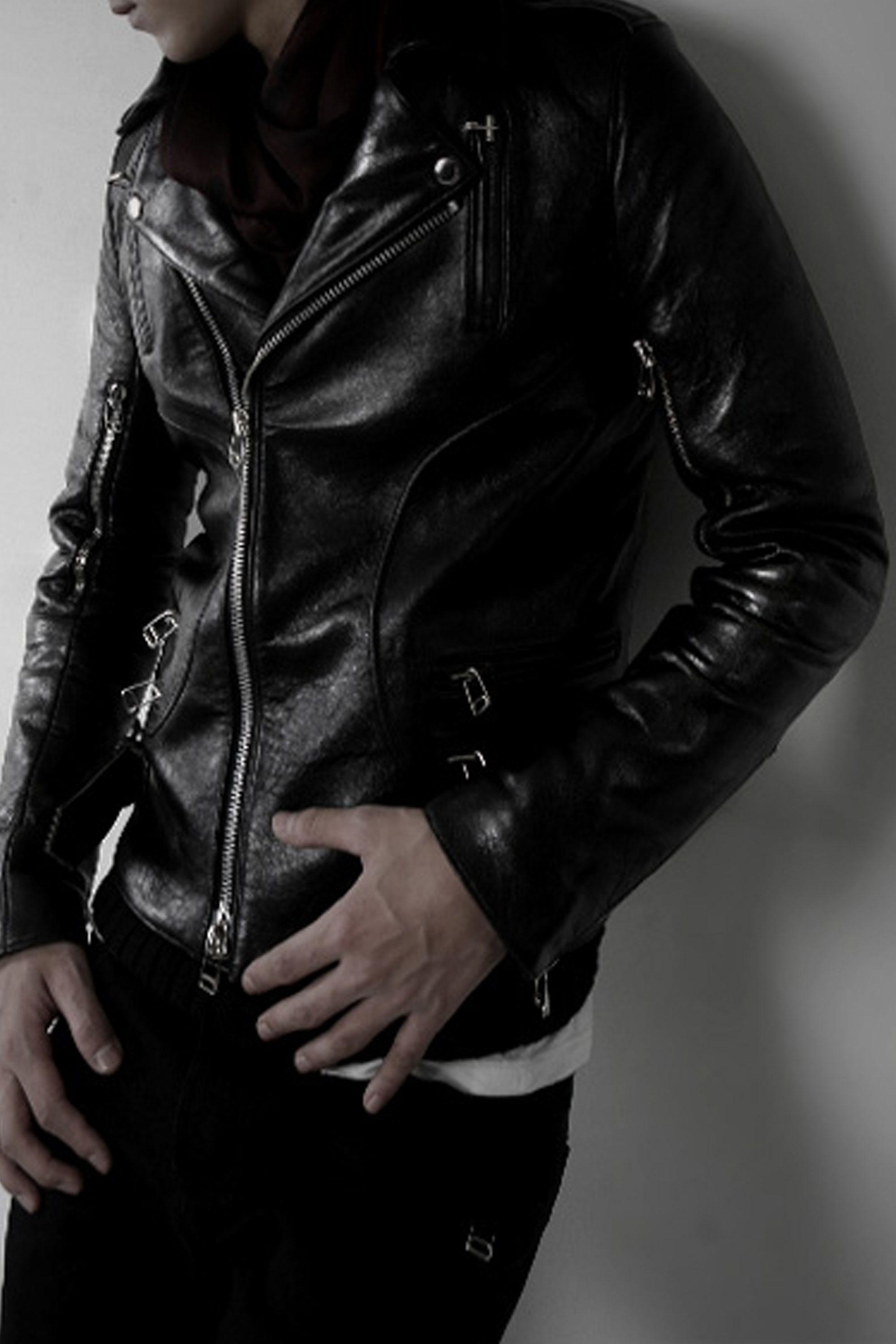 [리오더]09 Biker Riders Jacket sheep skin leather