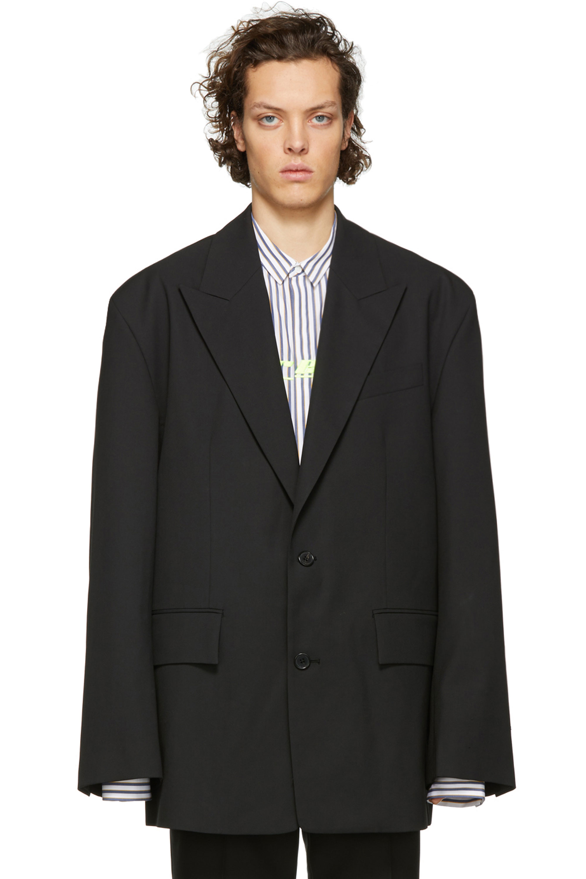 JJ Oversized Blazer SETUP! -BLACK,CHECK -COLLECTION FIT-