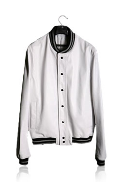 Wolf Stadium White Leather Jacket