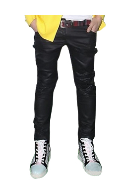 acne black coating pants