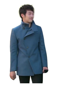 [2차 리오더 상품] JILL BLUE HIGH NECK COAT