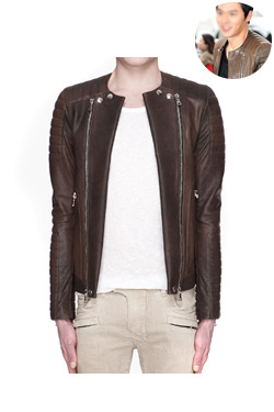 13SS New biker leather jacket