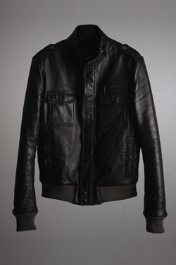 05'F/W Collection Leather Jacket 그레이시보리