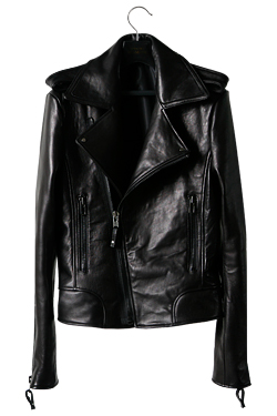 Leather Rider Jacket(Black X Black)No Belted스터드옴므 레더 라이더 자켓