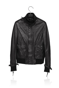 04'Strap Leather Jacket
