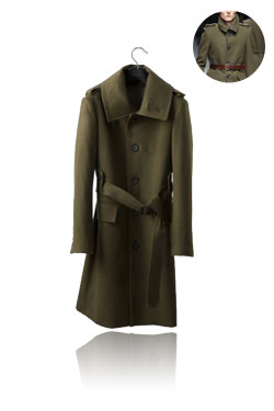 Military single coat khaki