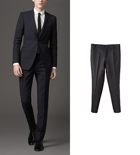LONDON Pants BLACK-WOOL100%-