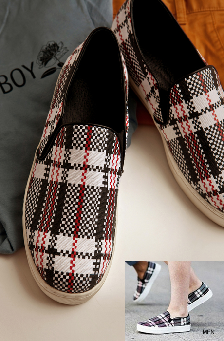 CELIN* check slip on[men]