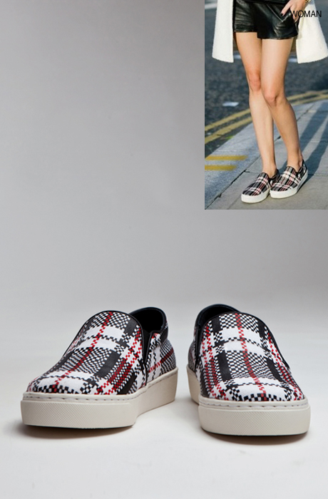 CELIN* check slip on[woman]