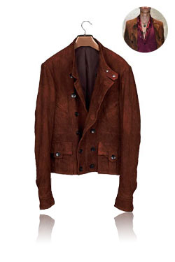 Brown double collection jacket