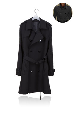 Trench coatblack