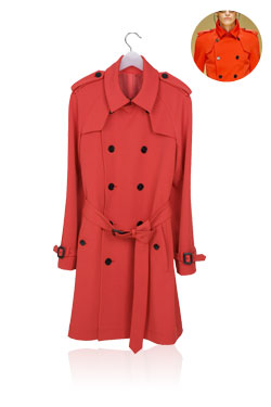 Trench coatred