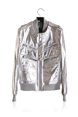 07 S/S Silver Leather Jacket