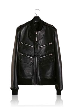 GD착용 DIOX HOMME black leather biker