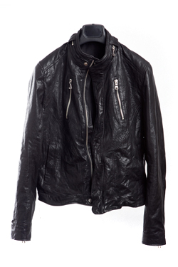 [1차결제]LEATHER JACKETblack color