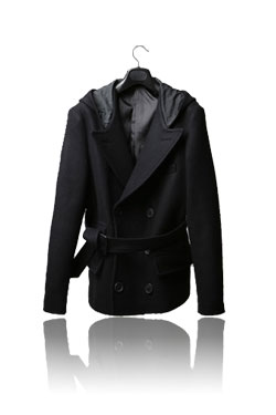 Dries van hood double coat