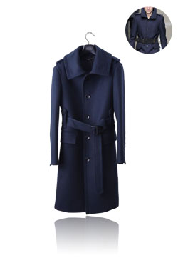 Military single coat deep blue