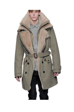 Aviator trench coat