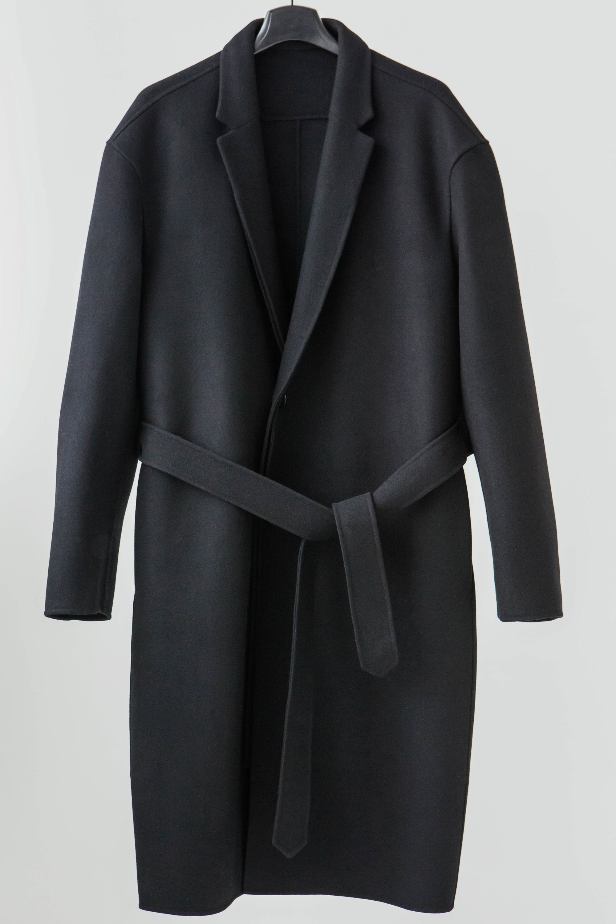 -J- SINGLE OVER-FIT COAT  WOOL94% CASHERE5% PU1%