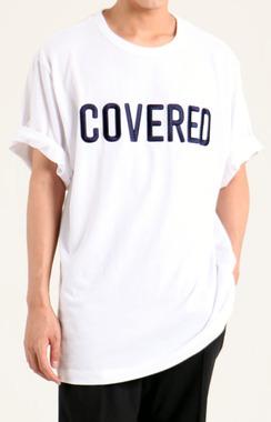 17SS JUUN.   COVERED OVER FIT T-SHIRTS  WHITE  본품 동일 COVERED 자수 작업    총 4만3천침!!   당일 발송!