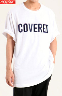 [20% SALE]   COVERED OVER FIT T-SHIRTS 본품 동일 COVERED 자수 작업  총 4만3천침당일 발송!48,000원->38,400원